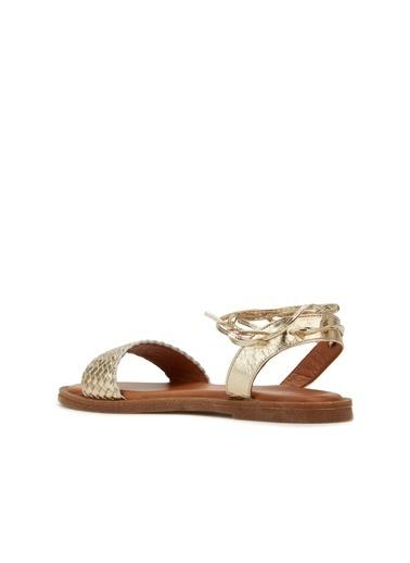 Divarese Divarese 5025377 Cep Desenli  Kadın Sandalet Altın